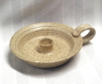 photo of Candle Holder in cream glaze by Ocepek Pottery