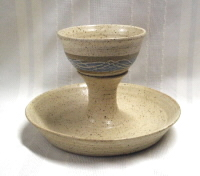 photo of Intinction Server Two in Otoe glaze by Ocepek Pottery