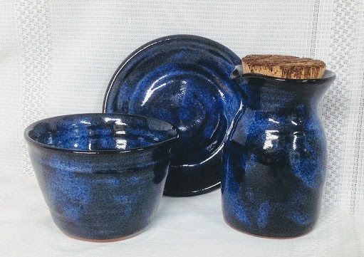 photo of Elder travel communion set in Neuhaus pattern by Ocepek Pottery