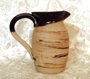 Flagon for communion set rustic pottery communionware
