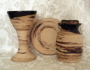 photo of Pastor travel communion set in Memorial pattern made by Debra Ocepek of Ocepek Pottery