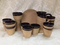 Natural style communion vessels for Maundy Thursday dramatic portrayals