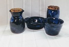 photo of pottery travel communion set made by Debra Ocepek of Ocepek Pottery